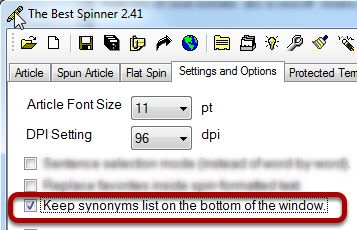 The best option synonym